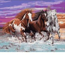 MR-Q2252 Картина по номерам Дикие лошади Mariposa