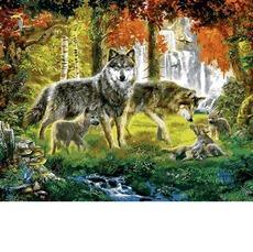 MR-Q2254 Картина по номерам Семья волков Mariposa