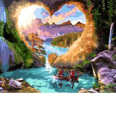 MR-Q2257 Картина по номерам Пещера любви Mariposa