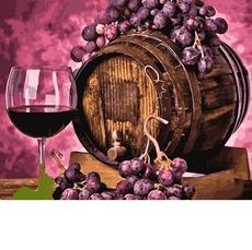 MR-Q2258 Картина по номерам Вино в дубовой бочке Mariposa