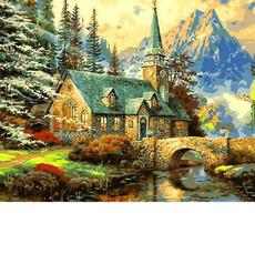 Альпийский пейзаж. Часовня Худ. Томас Кинкейд MR-Q497
