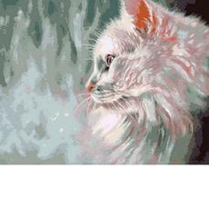 Белый кот Худ. Пол Найт MR-Q785