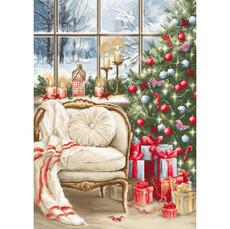 Набор для вышивки гобеленом Luca-S Рождественский дизайн интерьера G599
