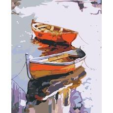 Картина по номерам Bambino Лодки у причала 0001П1