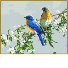 Птички на яблоне ST809
