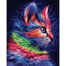 VP1252 Раскраска по номерам Разноцветный котенок Babylon