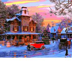 VP1270 Картина по номерам Праздничный городок