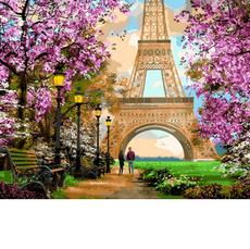 VP1272 Картина по номерам Прогулка по Парижу Babylon