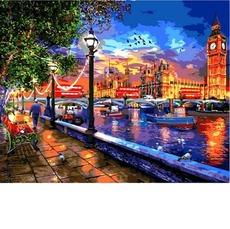 VP1275 Картина по номерам Жизнь в Лондоне. Доминик Дэвисон