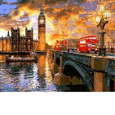 VP1276 Картина по номерам Вестминстерский закат. Доминик Дэвисон Babylon