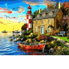 VP1277 Картина по номерам Дом смотрителя маяка. Доминик Дэвисон Babylon