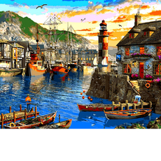 VP1279 Рисование по номерам Восход солнца в порту. Доминик Дэвисон Babylon