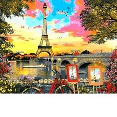 VP1281 Раскраска по цифрам Закат в Париже. Доминик Дэвисон Babylon