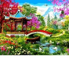 VP1282 Картина раскраска Японский стиль. Доминик Дэвисон Babylon