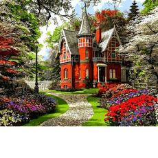 VP1283 Холст для рисования Викторианский дом. Доминик Дэвисон Babylon