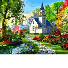 VP1287 Раскраска для взрослых Маленькая Белая Церковь. Доминик Дэвисон Babylon