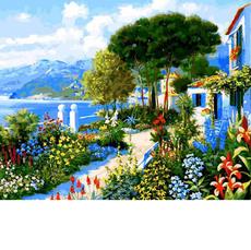 VP1292 Раскраска по номерам Сад у дома Babylon