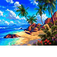 VP1293 Раскраска по номерам Морской берег Babylon