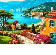 VP1298 Картина по номерам Дом на берегу Babylon
