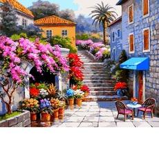 VP1300 Картина по номерам Цветочный магазин Babylon