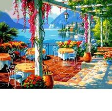 VP1304 Картина по номерам Кафе на берегу Babylon