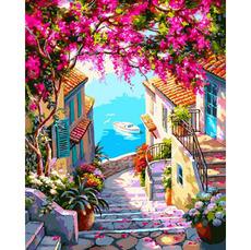 VP1307 Картина по номерам Лестница к морю Babylon