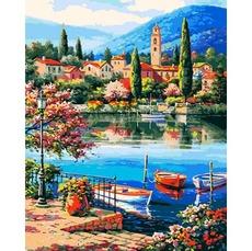 VP1309 Картина по номерам Город у моря Babylon