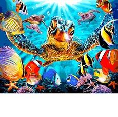 VP1323 Картины по номерам Черепахи и рыбки Babylon