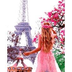 VP1324 Картины по номерам Влюбленная в Париж Babylon