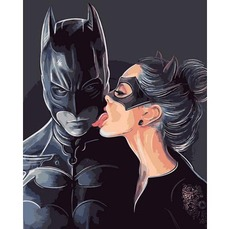 VP1329 Раскраски по номерам Бэтмен и женщина кошка Babylon