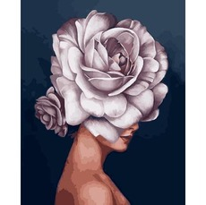 VP1334 Картина по номерам Девушка-роза. Эми Джадд Babylon