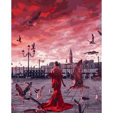 VP1336 Картина по номерам Закат на набережной Babylon