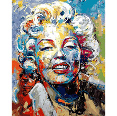 VP1340 Картина по номерам Красочная Мэрилин Монро Babylon