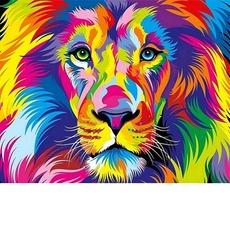 VP1343 Картина по номерам Радужный лев Babylon