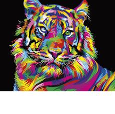 VP1344 Картина по номерам Радужный тигр Babylon