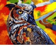 VP1347 Раскраска по цифрам Радужная сова Babylon