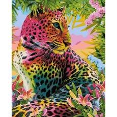 VP1348 Картина раскраска Разноцветный гепард Babylon