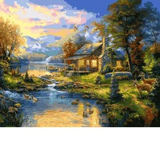 VP1355 Картины по номерам Дом у озера Babylon