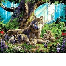 VP1358 Раскраска по номерам Волчица с волчатами Babylon