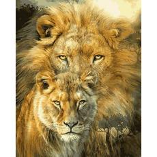 VP1361 Раскраски по номерам Лев и львица Babylon