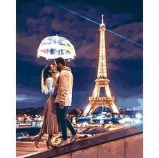 VP1376 Картина по номерам Любовь в Париже Babylon