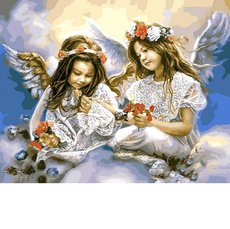 Ангелочки с маками VP630