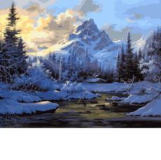 Горное озеро зимой VP653