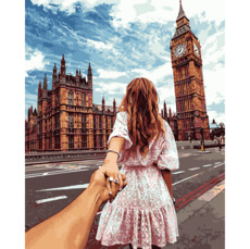 Картина по номерам Babylon Следуй за мной. Лондон Худ. Мурад ОсманнVP706 40 х 50см