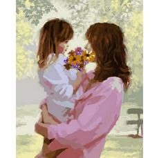 Картина по номерам Babylon Букет для мамы Худ. Ричард Макнейл VP778 40 х 50см