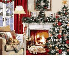Рождественский вечер у каминаХуд. Ричард МакнейлVP787