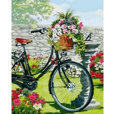 Велосипед в цветущем саду Худ. Ричард МакнейлVP795