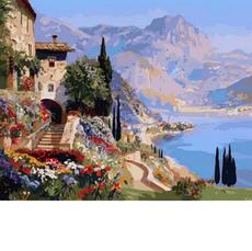 Картина по номерам Babylon Цветы на морском побережье VP870 40 х 50см