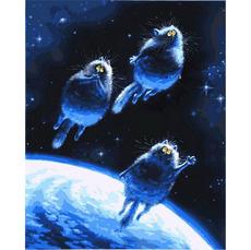 Картина по номерам Babylon Синие коты VP878 40 х 50см