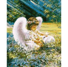 Картина по номерам Babylon Ангелочек с кроликом VP900 40 х 50см